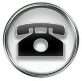Phone icon grey Royalty Free Stock Image