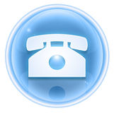 Phone icon ice Royalty Free Stock Photography