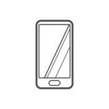 Phone icon. Outline Hand phone icon ,  illustration for web design etc Stock Photo