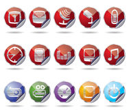 Phone icon performance. Vector phone icons performance - vector icon set Royalty Free Stock Images