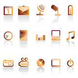 Phone icon performance. Mobil phone performance icons - vector icon set Royalty Free Stock Photography