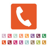 The phone icon. Phone symbol. Flat Royalty Free Stock Images