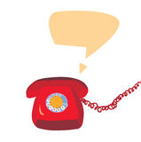 Phone icon retro design Royalty Free Stock Images
