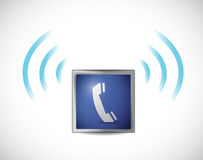 Phone icon ringing illustration design Royalty Free Stock Image