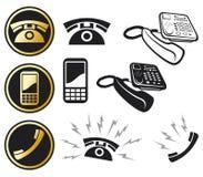 Phone icon set Stock Photo