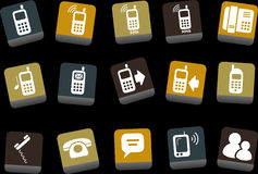 Phone icon set Royalty Free Stock Image