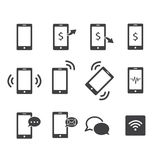 Phone icon set. Phone communication icon sign symbols set stock illustration