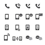 Phone icon set Stock Photo