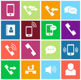 Phone icon set Royalty Free Stock Images
