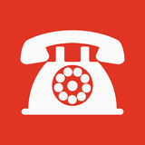 The phone icon. Telephone and support, hotline, helpdesk symbol. Flat Royalty Free Stock Photography