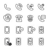 Phone icon Stock Images