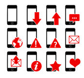 Phone icons 1 Royalty Free Stock Photo
