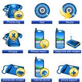 Phone icons 2 Stock Photo