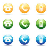 Phone icons. Illustration of phone icons on white background Stock Images