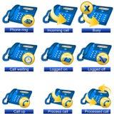 Phone icons 4 Stock Photo