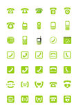 Phone icons. Set of phone icons. Vector illustration Royalty Free Stock Images