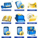 Phone icons 7 Royalty Free Stock Photos