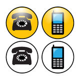 Phone icons Royalty Free Stock Photos