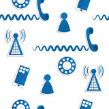 Phone Icons Background. Seamless pattern of phone icons and symbols Stock Photography