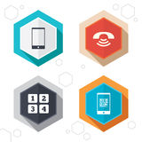 Phone icons. Call center support symbol Stock Photography
