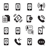 Phone icons Stock Image
