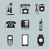 Phone icons Royalty Free Stock Photos