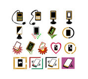 Phone icons. Set of different phone icons Stock Photo