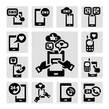 Phone icons set Stock Photos