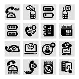 Phone  icons set Royalty Free Stock Image