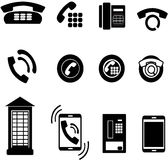 phone icons Stock Image