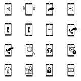 Phone icons set vector illustration Stock Photo