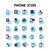 Phone Icons Set. For web design and application interface, also useful for infographics. Vector illustration vector illustration