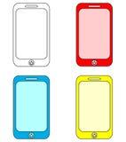 Phone icons set Stock Photos