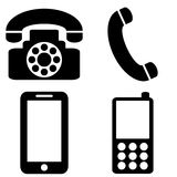 Phone icons set Royalty Free Stock Images