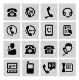 Phone icons Stock Photography
