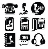 Phone icons Stock Photo