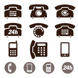 Phone Icons vector set Royalty Free Stock Image