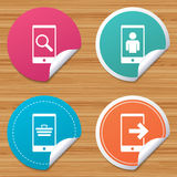 Phone icons. Video call, online shopping. Stock Image