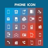 Phone Icons. For web design and application interface, also useful for infographics. Vector illustration stock illustration