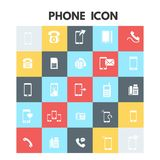 Phone Icons. For web design and application interface, also useful for infographics. Vector illustration royalty free illustration