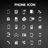 Phone Icons. For web design and application interface, also useful for infographics. Vector illustration Stock Images