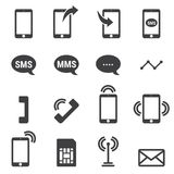 Phone icons on white background. Vector illustration. Phone icons on white background, vector illustion flat design style Stock Photography