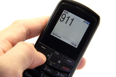 Free Phone In Hand And Will Call 911 Stock Photos - 21709103