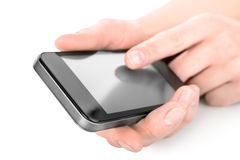 Phone In Hands Stock Photo