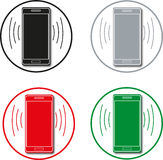 Phone. incoming and outgoing calls. communications. Royalty Free Stock Images