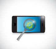 Phone industry research concept illustration Royalty Free Stock Photos