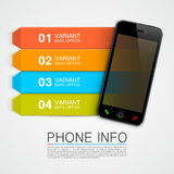 Phone info banner Royalty Free Stock Photo