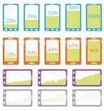Phone Info-Graphic Stock Photo