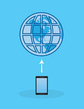 Phone Internet Earth Royalty Free Stock Photo