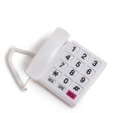 Phone isolated call communication on white Royalty Free Stock Photo